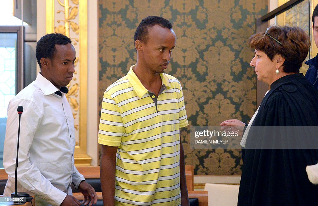 - Two of the three Somali pirates arrested by French soldiers in 2009 Mahmoud Abdi Mohammed (L) and Abdelkader Osmane Ali (C) speak with their lawyer Catherine Glon, on October 14, 2013 at Rennes' courthouse, prior to the opening hearing of their trialfor hijacking a yacht in 2009. French troops stormed the Tanit sailboat on April 10, 2009 and captured the trio in a bid to free Florent Lemacon, his wife, their three-year-old son and two others.