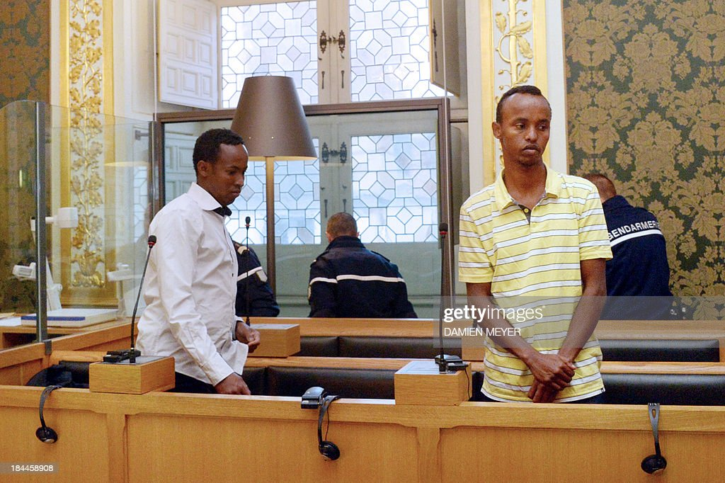 - Two of the three Somali pirates arrested by French soldiers in 2009 Mahmoud Abdi Mohammed (L) and Abdelkader Osmane Ali wait in the accused box, on October 14, 2013 at Rennes' courthouse, prior to the opening hearing of their trial for hijacking a yacht in 2009. French troops stormed the Tanit sailboat on April 10, 2009 and captured the trio in a bid to free Florent Lemacon, his wife, their three-year-old son and two others.