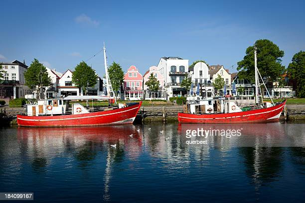 Two old fishing boats in the harbor - Warnemünde / Germany
