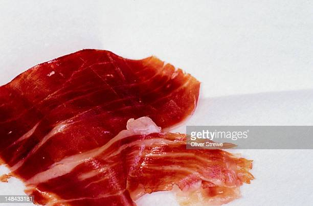 Two or three slices of iberico jamon as an entree, Andalucia