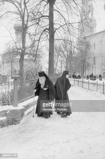 Two Orthodox priests in Zagorsk now Sergiev Posad This picture is taken from the monography 'Mario De Biasi Il mio sogno Š qui' curated by Enrica...