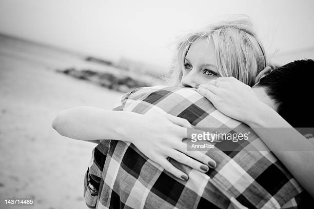 Two people hugging showing love and care