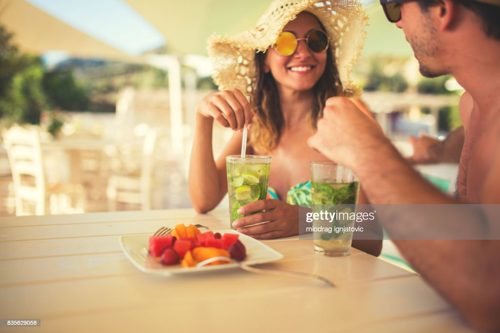 Two people on a vacation : Foto stock