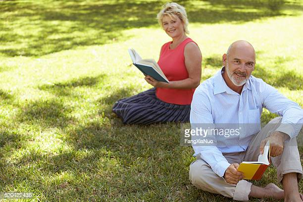 Two people reading