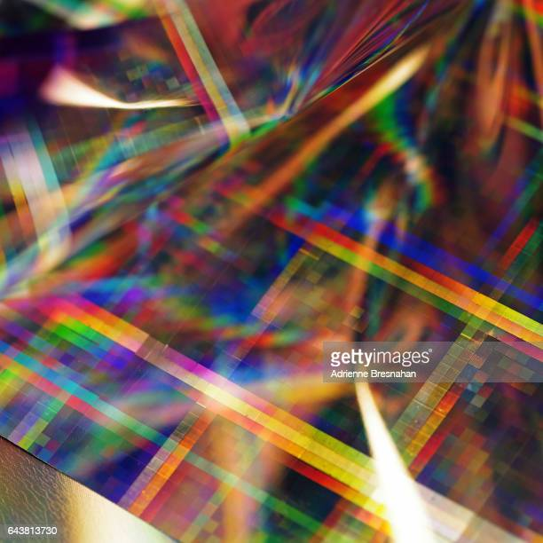 Two Pieces of Holographic Craft Paper