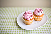 Pink Cupcakes on a Plate