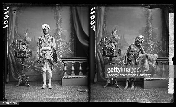 Two portraits of Indian conjurors 25th July 1877