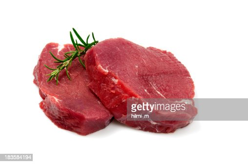 Two Raw Steaks