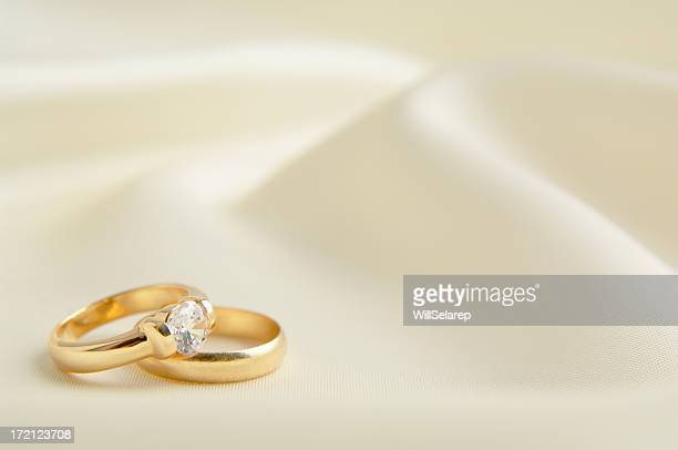 Two rings in white background