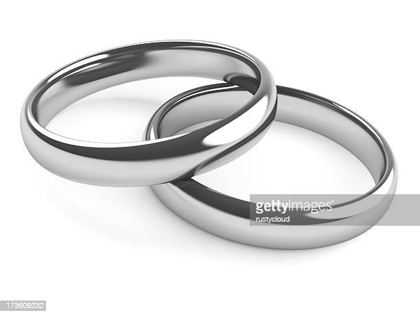 Two Rings - Platinum or Silver