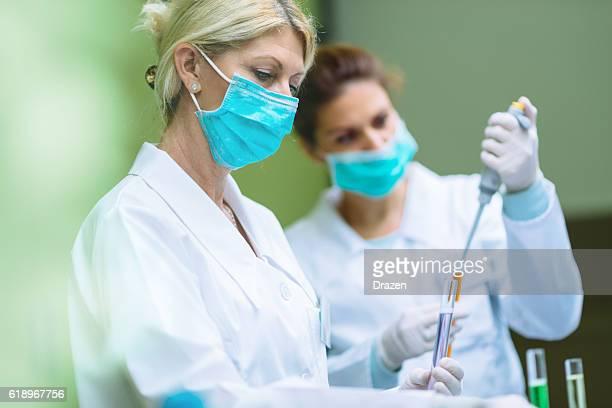 Zwei Wissenschaftler Arbeiten im Labor
