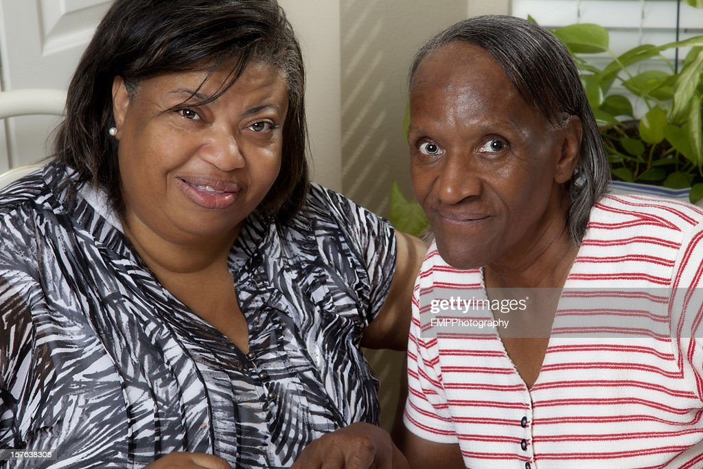 Two Senior African American Women : Stock Photo