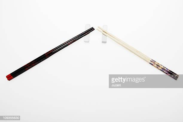 Two sets of chopsticks