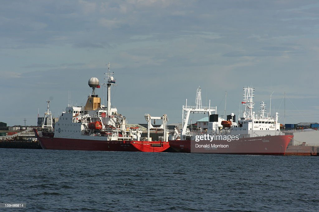 CONTENT] Two ships berthed at FIPAS, Stanley, Falkland Islands