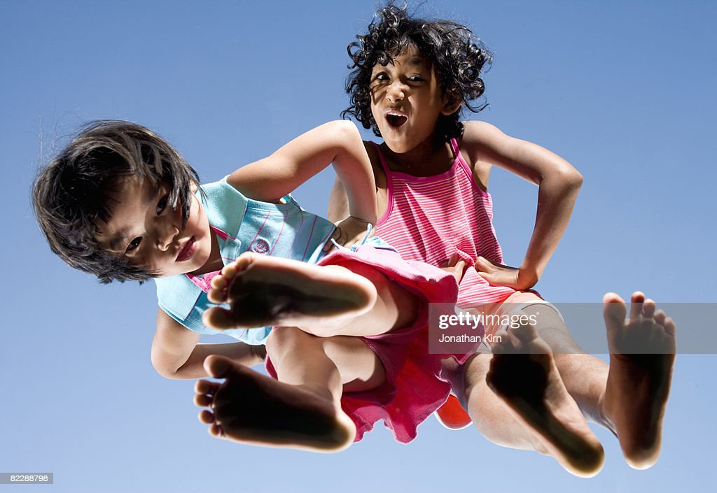 Two sisters have attitude.  : Stock Photo