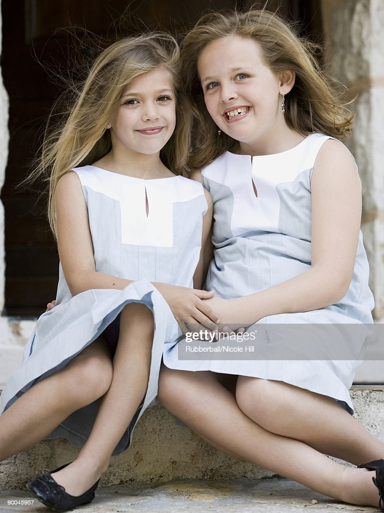 two sisters : Stock Photo
