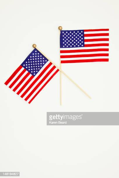 Two small American flags