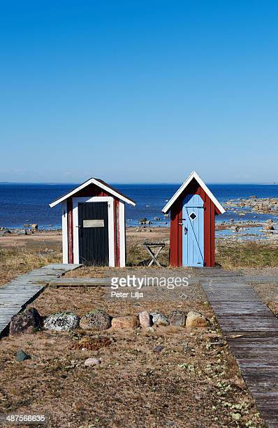 Two small outhouses