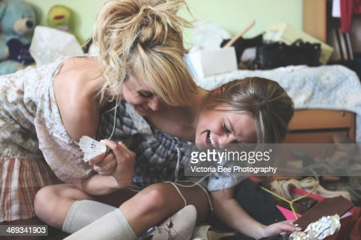 Two smiling girls : Stock Photo