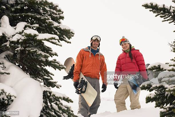 Two snowboarder