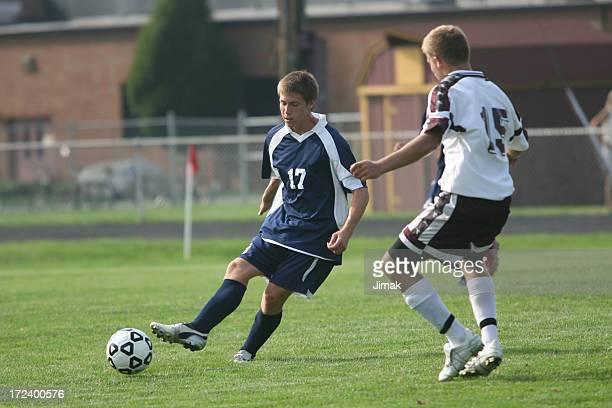 Two Soccer Players Compete