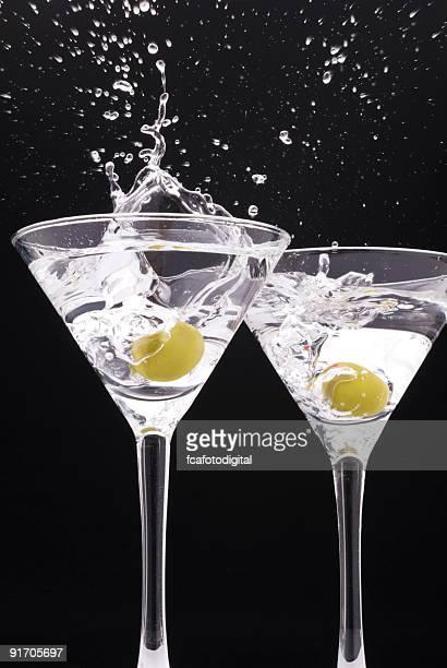 Two Splashing Martinis