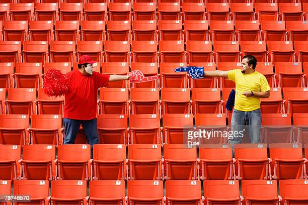 Two Sports Fans in Stadium