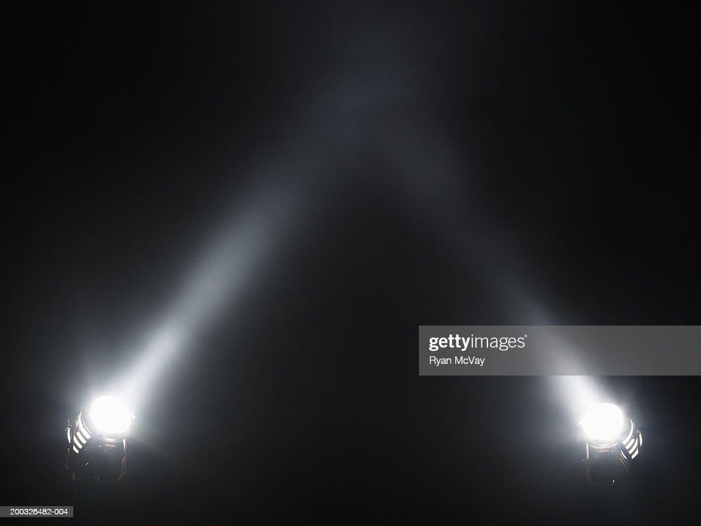 Two spotlights : Stock Photo