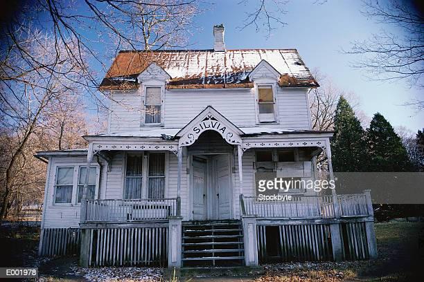 Two storey white house