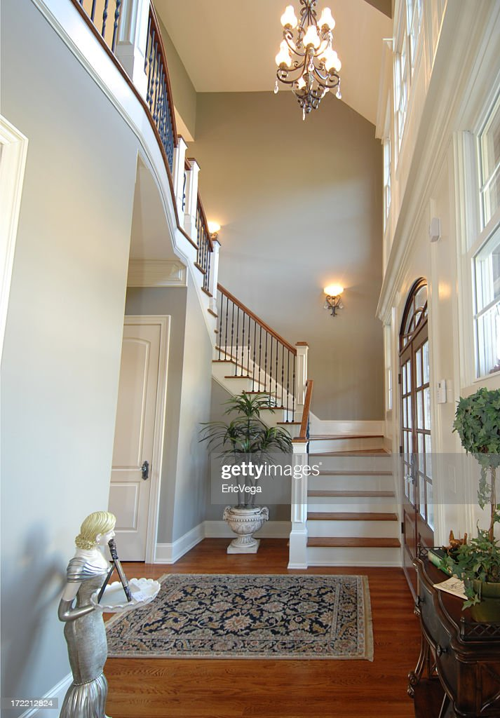 Two Story Entry Foyer : Two story foyer stock photo getty images