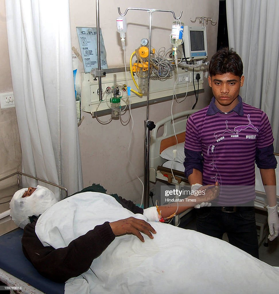 Two students died on the spot and one was seriously injured after being hit by a moving train in Maharajpur area under Link road police station on January 20, 2013 in Ghaziabad, India.