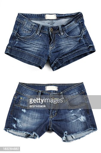 Two styles of women's Jean shorts