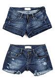 Two styles of women's Jean shorts