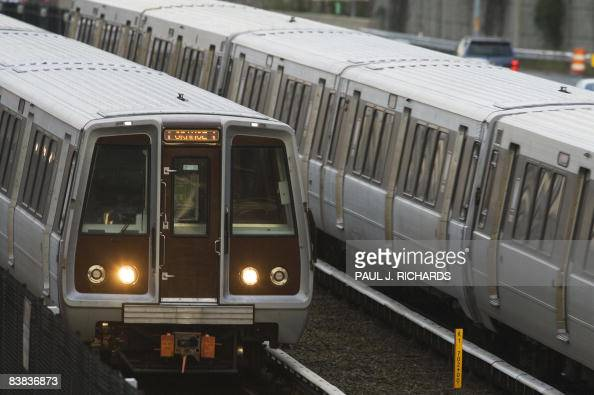 Two subway trains on the greater Washington DC 'Metro' system are seen November 26 2008 The FBI has warned US officials of a possible AlQaeda plot...