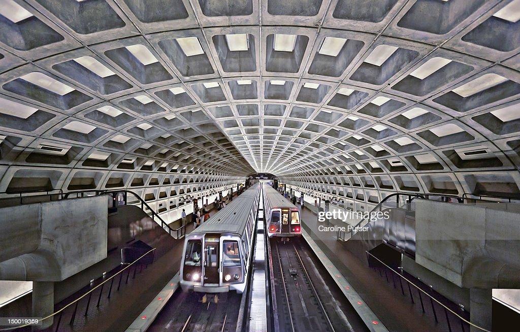 Two subway trains, Washington Metro