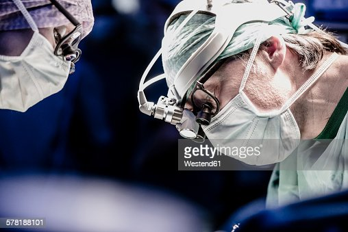 Two surgeons during a surgery