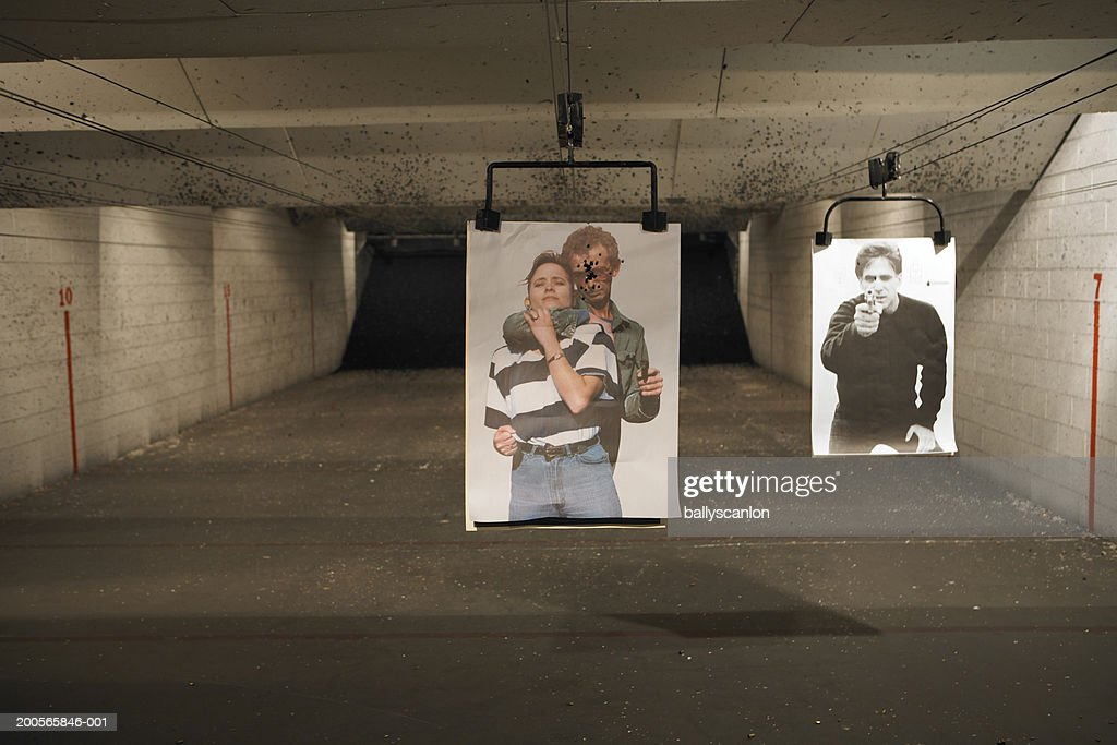 Two targets at shooting range : Stock Photo
