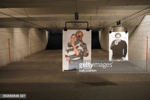 Two targets at shooting range : Stock Photo