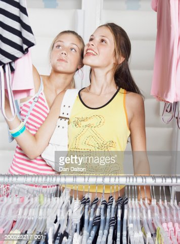 Similar images. Teenage Girl Waiting In Change Room Of Shop Rear View Stock Photo