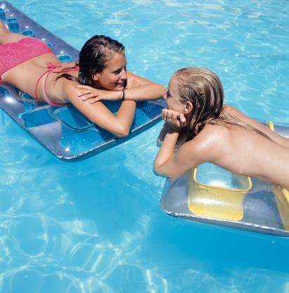 tween girls swimming naked