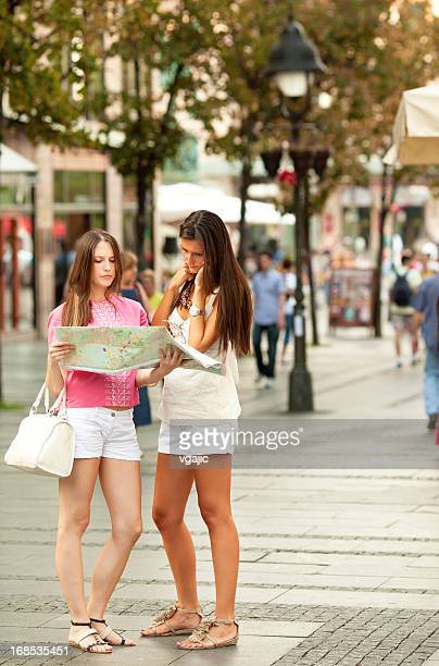 Two teenagers visit Europe.