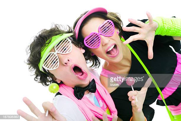 Dos adolescentes baile de discoteca música