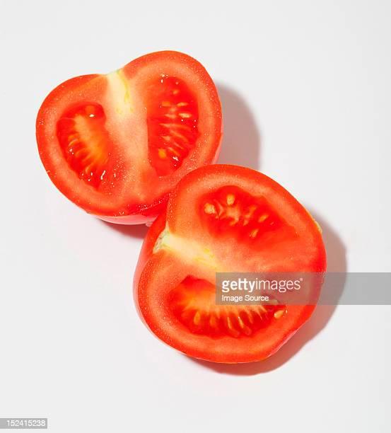 Two tomato halves