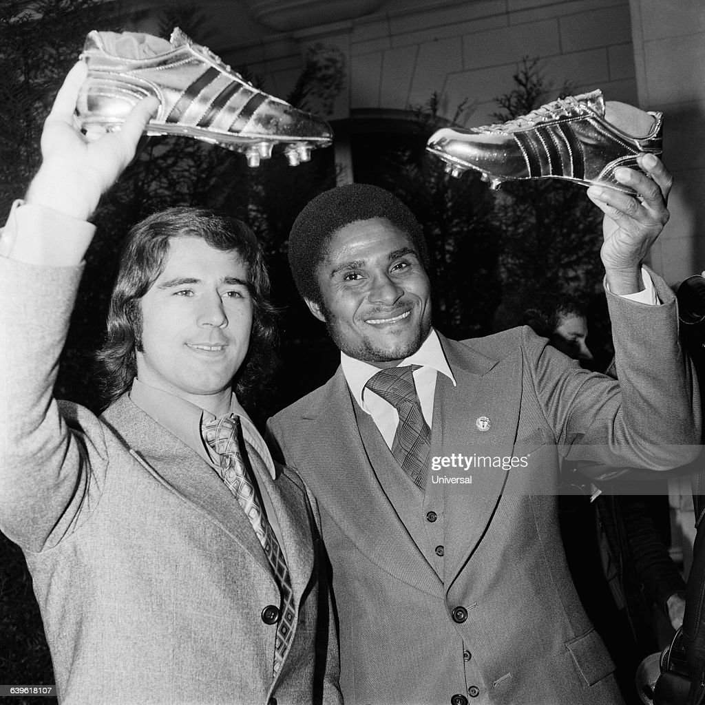 Soccer Gerd Muller and Eusebio