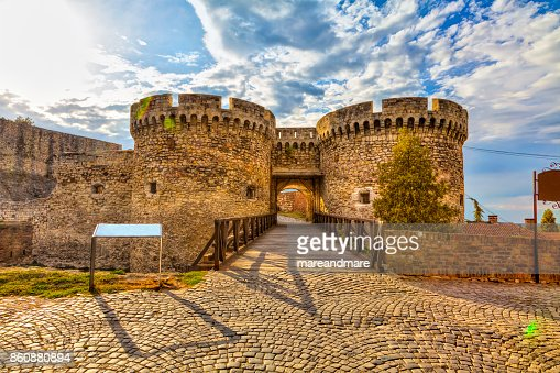 two towers and a bridge : Stock Photo