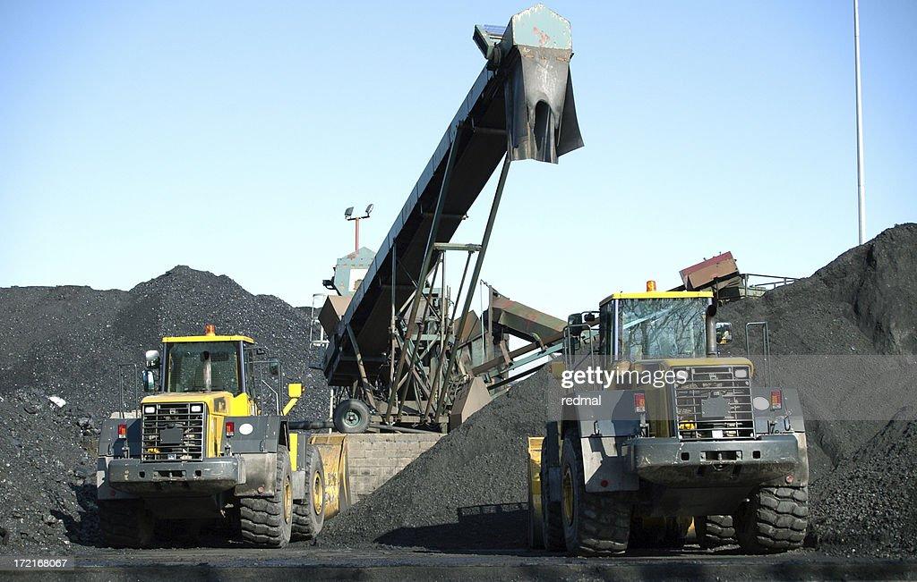 two trucks and coal