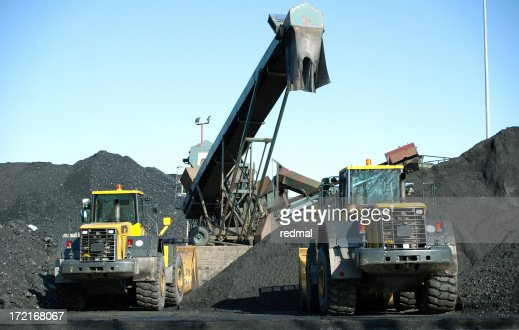 two trucks and coal
