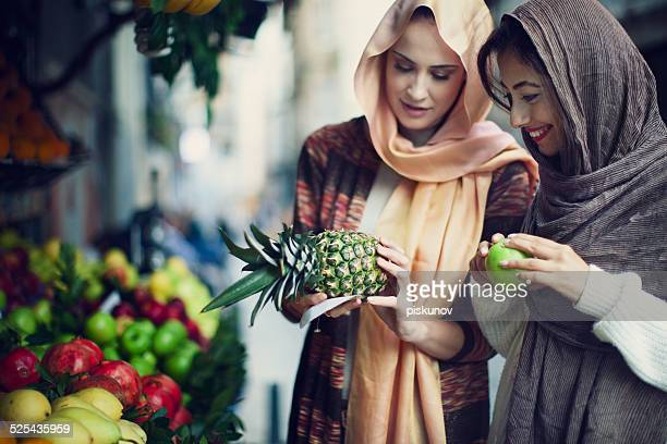 Two Turkish Women Enjoying Shopping