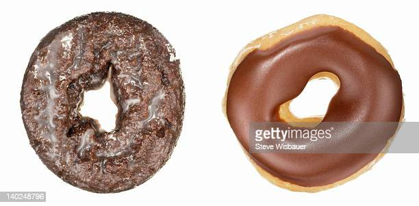 Two types of chocolate donuts