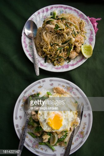 Two typical Laotian food dishes : Stock Photo